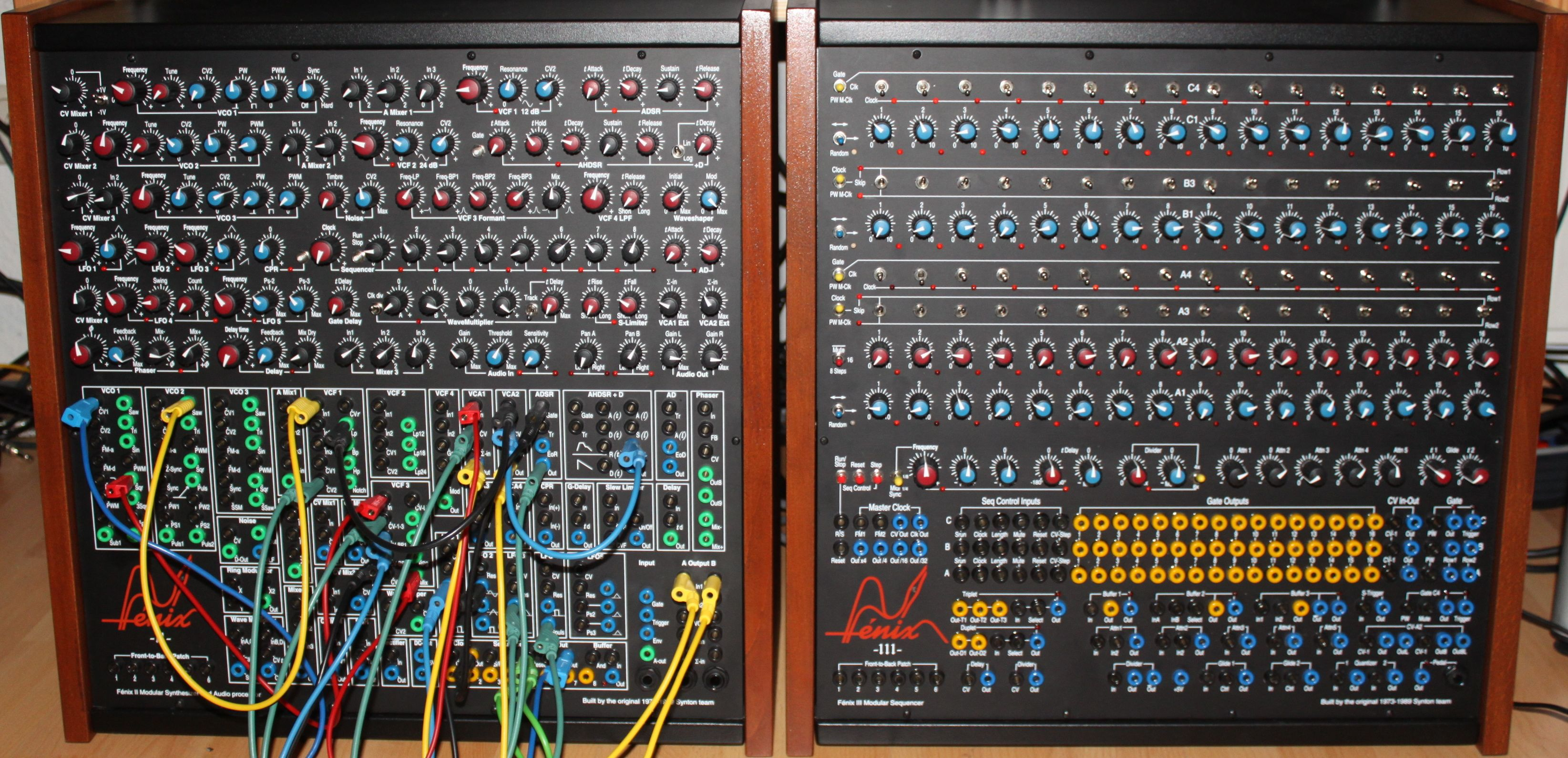 synton fenix ii modular synthesizer fenix iii modular sequencer. Black Bedroom Furniture Sets. Home Design Ideas